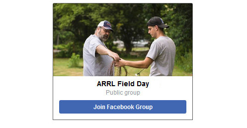 Join the ARRL Field Day 2018 Facebook group!