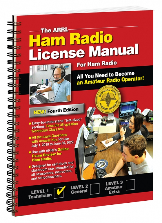 The arrl ham radio license manual by american radio relay league.