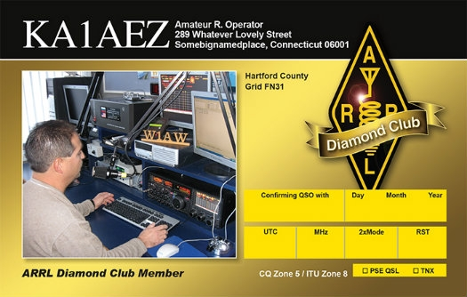 Diamond Club QSL Cards