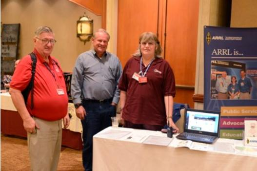 Feb. 20, 2016 - Ken Martin KE6RMN, Phil Sittner KD6RM, and Carol Milazzo KP4MD at the ARRL Amateur Radio Exhibit at Cal4Wheel Convention