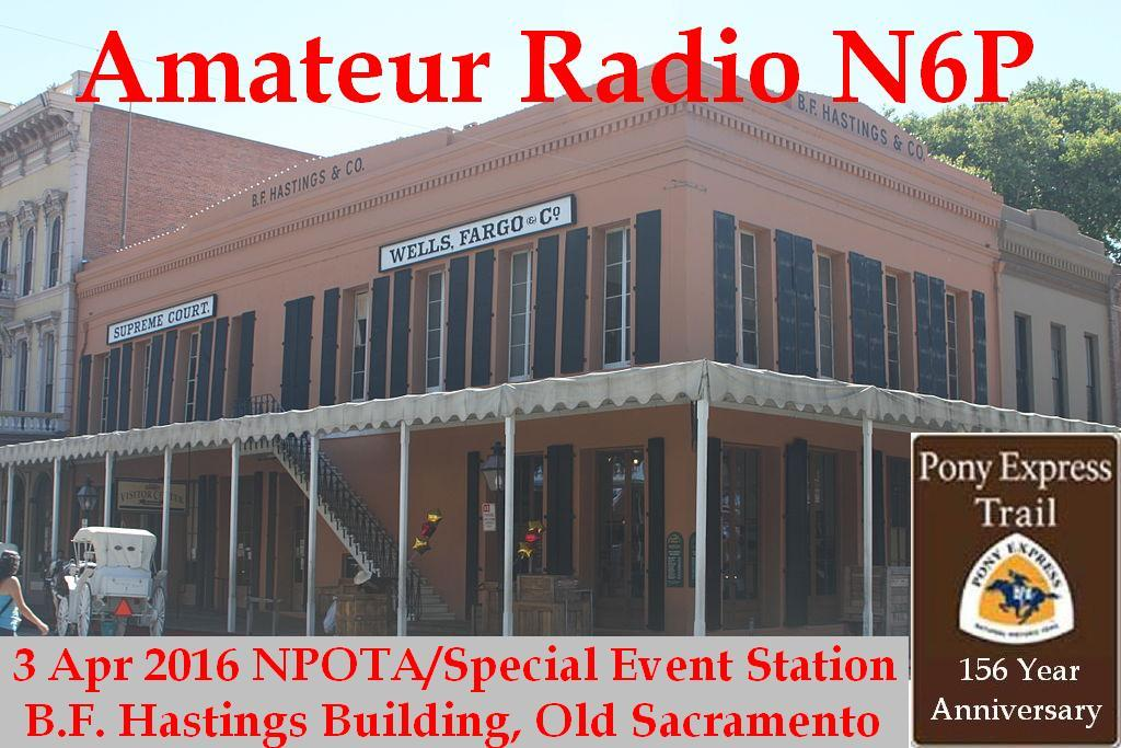 Pony Express Special Event Station N6P