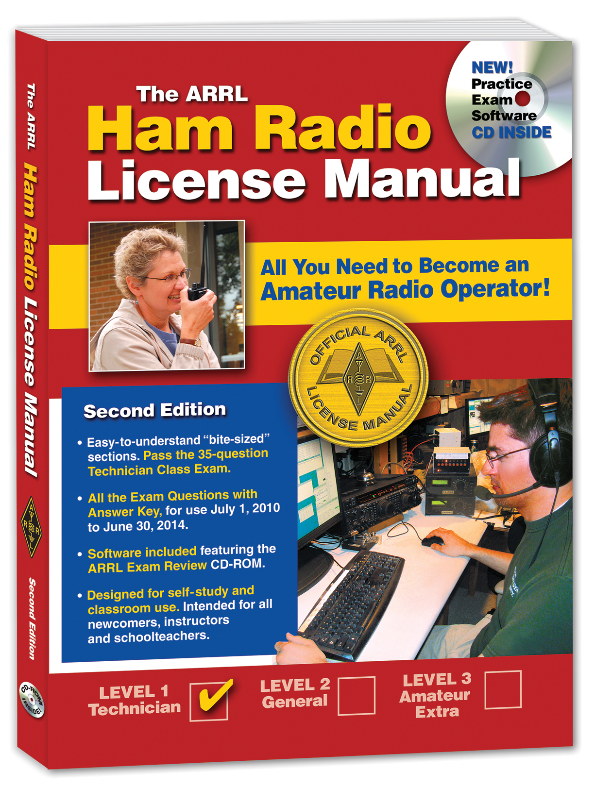 Arrl introduces exam review software for ham radio licensing the arrl ham radio license manual second edition with arrl exam review cd rom xflitez Image collections