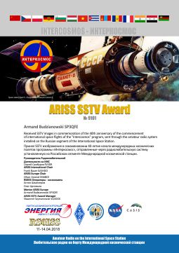 Space Station Commemorative Slow-Scan TV Transmissions Prove