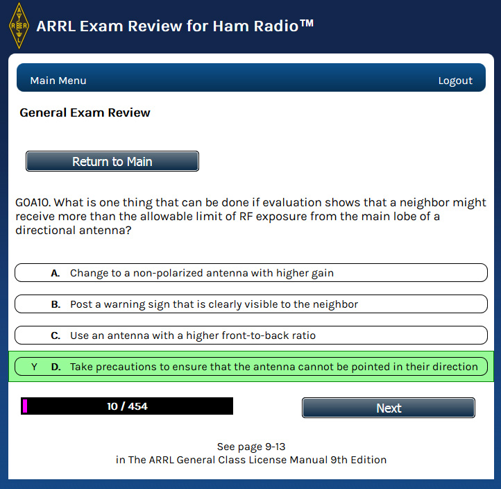 ARRL's Free Exam Review for Ham Radio Updated