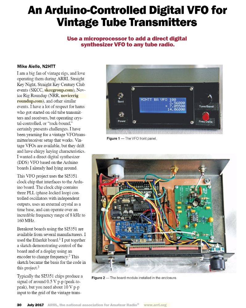 N2HTT Wins the July QST Cover Plaque Award