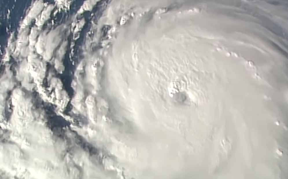 Hurricane Florence as seen from the ISS. [NASA video]