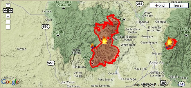 Fires In New Mexico Map New Mexico Hams Provide Communications Support During Wildfires