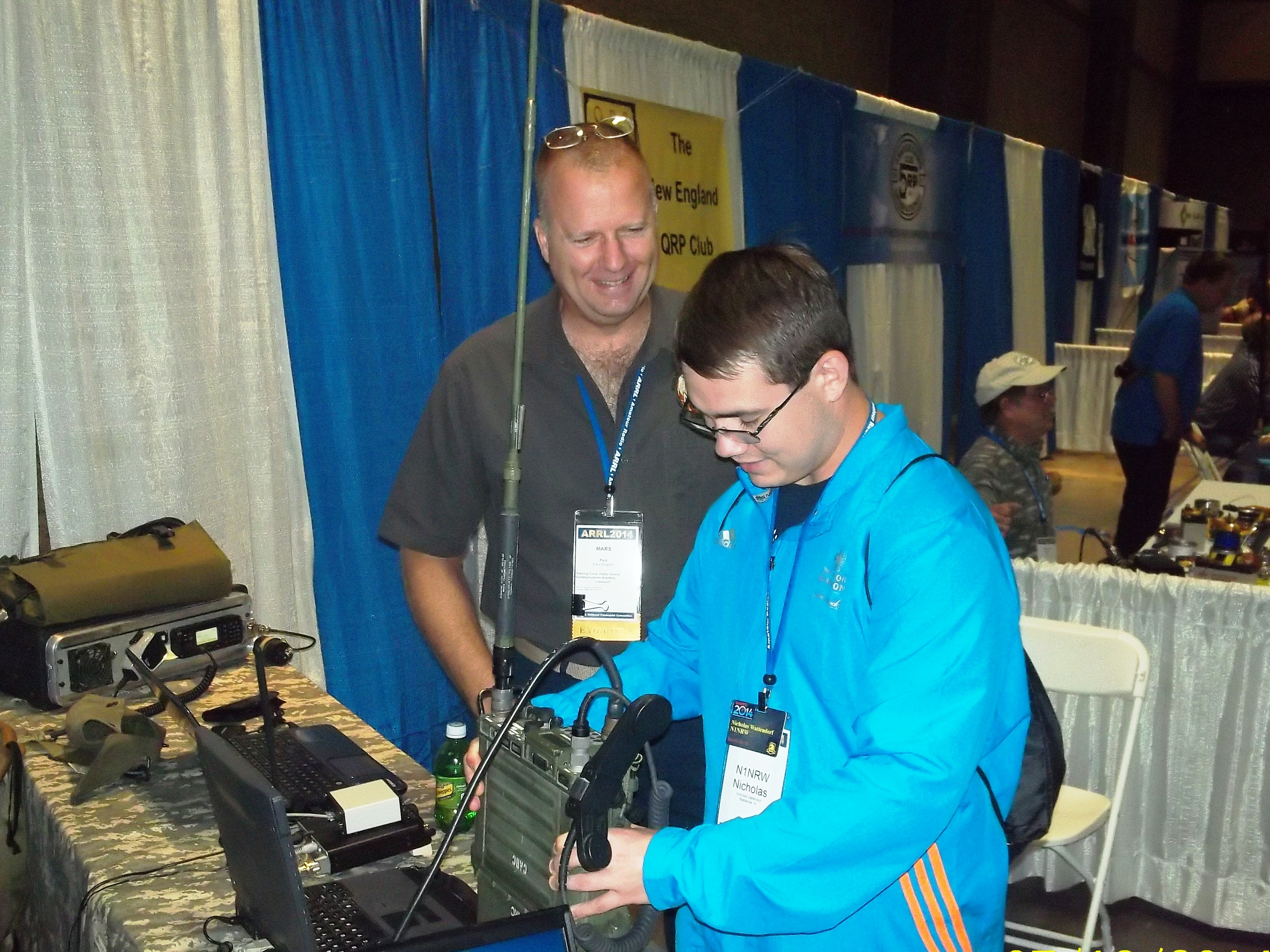 Army MARS Demonstrates ALE, Courts Young Volunteers at ARRL
