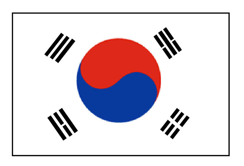 South korea on six - Picture of a korean flag ...