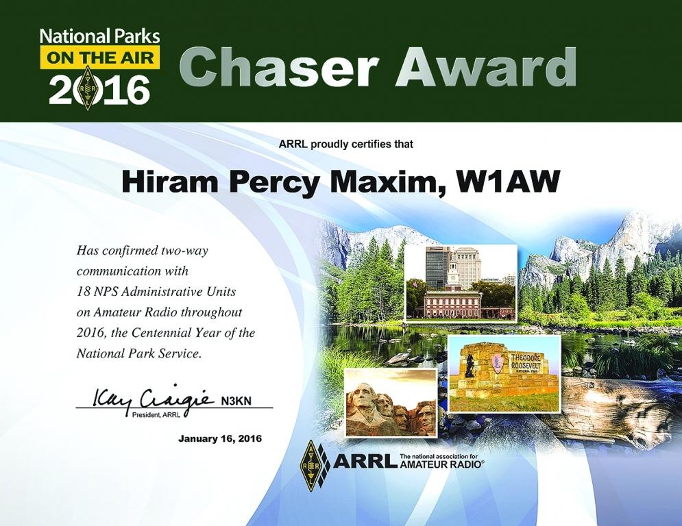 NPOTA Chaser  Certificate
