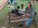 An efficient station layout helps Bill, NM4K, to rack up SSB contacts.