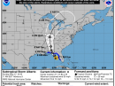 The predicted 5-day track of Sub-Tropical Storm Alberto. [NOAA Graphic}