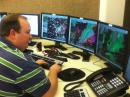 Willie Gillmore -- a meteorologist at the National Weather Service in Little Rock, Arkansas -- watches storms develop in Grant County. [Photo courtesy of Arkansas SKYWARN]