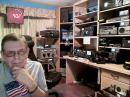 Art Bell, W6OBB, in his well-equipped Amateur Radio station.