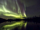 Aurora generated by a geomagnetic storm [NOAA image]