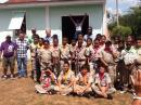 The February 26 Amateur Radio demonstration was held at the Scouts National Training Grounds in Belize.