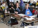 Amateur Radio volunteers at the State Emergency Operations Center. [Bruce Tinkler, N9JBT, photo]