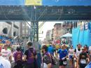 The Boston Marathon finish line in downtown Boston. [Mike Leger, N1YLQ, photo]