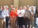Scientist-hams attending CEDAR 2015 (L-R): Steve Kaeppler, AD0AE, SRI International; Ethan Miller, K8GU, Johns Hopkins Applied Physics Laboratory; Gregory Earle, W4GDE, Virginia Tech; Magda Moses, KM4EGE, Virginia Tech; Nathaniel Frissell, W2NAF, Virginia Tech; Michael Hirsch, W2NRL, Boston University and SciVision; Paul Bernhardt, KF4FOR, Naval Research Laboratory; David Hysell, KA3IFC, Cornell University, and John Sahr, WB7NWP, University of Washington.