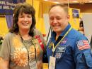 Carole Perry, WB2MGP, with astronaut Mike Fincke, KE5AIT, at Hamvention 2015.
