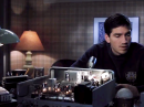 "Jim Caviezel at his ham radio in the movie ""Frequency."""
