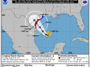 The projected track of Tropical Storm Harvey. [NOAA graphic]