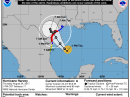 The forecast track of Hurricane Harvey. [NOAA graphic]