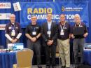 Visitors to the ARRL exhibit included (left to right) Ray Bailey, N4GYN; Jim Kaufman, W4IU — a recent QST author; Eric Eveleigh, KN4VRW; ARRL Georgia Section Manger David Benoist, AG4ZR, and Chuck Catledge, AE4CW.