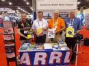 Promoting Amateur Radio at IMS 2015 (L-R): Luca Erbisti, IZ2JQP; Hermann Schumacher, DF2DR; Bill Poole, AA4Q, and Patrick Stoddard, WD9EWK.