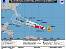 Projected 5-day path of Hurricane Irma. [NOAA graphic]