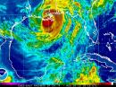 Hurricane Isaac made landfall west of New Orleans, Louisiana on Tuesday, August 28. This image shows Isaac on Wednesday, August 29. [Radar image courtesy of NOAA]