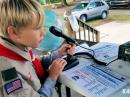Special Event station K4S in Jasper, Tennessee, where members of Scout Troop 5 and Cub Scout Pack 3005 participated in JOTA. [Courtesy of Radio  Scouting]