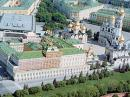 Aerial view of part of the Kremlin complex in Moscow. [Courtesy of Wikipedia Commons]