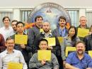 Some of the 23 NAWCWD employees who successfully passed Amateur Radio examinations proudly hold their CSCEs.