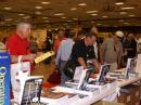 Hams crowded around the huge ARRL Bookstore to get the latest League publications.  [S. Khrystyne Keane, K1SFA, Photo]