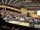 Each Agenda Item must have two readings in the Plenary before it becomes official. This is the view of the Plenary from the perspective of the IARU delegation. [George Petersen, PA5G, Photo]