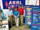 (L-R) Past MDC SM Jim Cross, WI3N; ARRL Atlantic Division Director Tom Abernethy, W3TOM; ARRL Education Services Manager Debra Johnson, K1DMJ, and MDC SM Marty Pittinger, KB3MXM