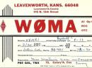 A W0MA QSL card from April 13, 1971.