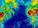 A satellite image provided by the National Oceanic and Atmospheric Administration made at 12:15 a.m. EDT Tuesday Aug. 19, 2008, shows Tropical Storm Fay as it approaches the west coast of Florida. Between 4 and 10 inches of rain is possible across mainland Florida, so flooding is a threat even far from where the center comes ashore, said Stacy Stewart, a senior hurricane specialist at the National Hurricane Center.