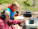 Dave Springer, N0TXJ (left) and Kevin Hecht, KG9BA, making contacts from special event station N9L.