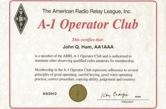 A-1 Operator Club Roster