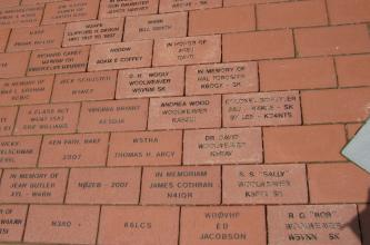 More than 2,000 bricks have been placed - so far!