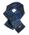 100% silk scarf featuring the ARRL diamond logo and ARRL 100 Years logo in an attractive blue pattern