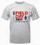 Heather gray t-shirt featuring the 2021 Field Day logo, a must-have for your spring wardrobe!