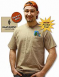 Pocket t-shirt featuring the 2012 Field Day logo above the pocket and ARRL diamond on back.