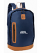 "This attractive navy faux-leather bottom backpack imprinted with the words ""ARRL, amateur radio""."
