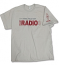 Ice Gray t-shirt featuring the 2015 Field Day logo on the front chest and ARRL diamond on the sleeve.<P>