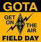 Use these pins to recognize GOTA (GET ON THE AIR) operators participating in ARRL Field Day.