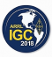 "Sticker (adhesive on the back) featuring the ARRL IGC 2018 logo. Size 3"" round.<P>