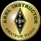 "This gold metal pin will symbolize your dedication and commitment to Amateur Radio as an ARRL Instructor.  Size 1"" round."
